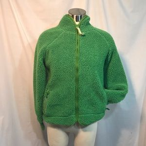Old Navy Sherpa Fleece Jacket Womens Medium Green